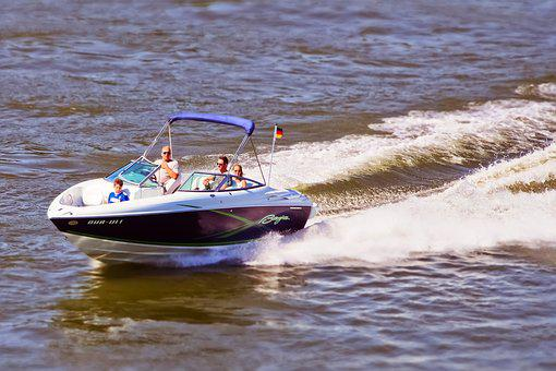 Boat, Powerboat, Water, Summer, Holiday, Blue, Nature