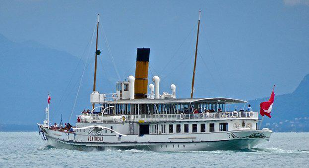 Paddle Steamer, Boat, Lake, Transport, Waters, Ship