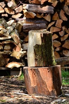 Wood, Firewood, Chop Wood, Wooden Block