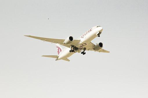Aircraft, Airport, International, White Sky, Aviation