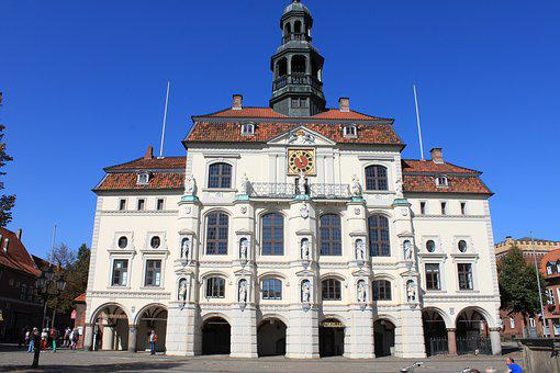 Lüneburg, Town Hall, Architecture, Facade, Building