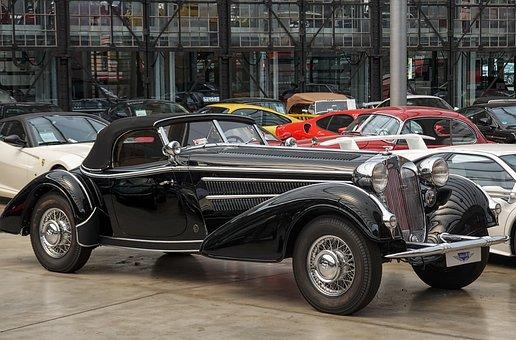Car, Transport, Vintage, Auto Union, Horch, Auto