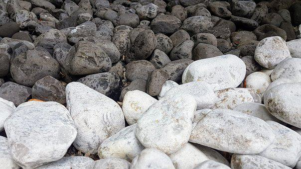 Stones, Black, White, Boulders, Background, Stone