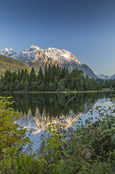 Bergsee, Karwendel, Clear, Nature, Water, Blue