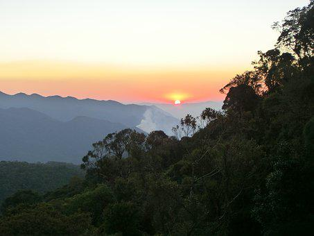 Brazil, National Park, Itatiaia, Sunset
