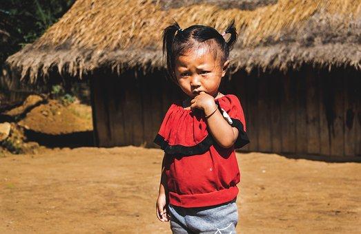 Child, Luang Prabang, Laos, Tribe, Rural