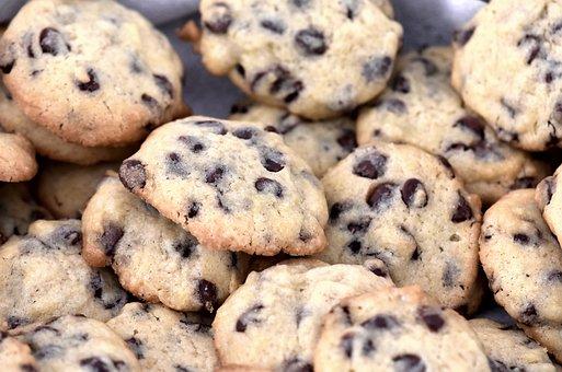 Fresh, Baking, Cookies, Tempting, Choc-chip