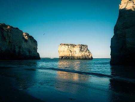 Portugal, Rock, Beach, Sea, Water, Coast, Landscape