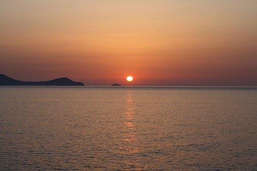 Sunrise, Dia Island, Crete, Kreta, Heraklion, Ocean