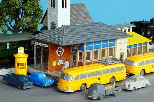 Diorama, Model Train, Model Railway, Model Cars