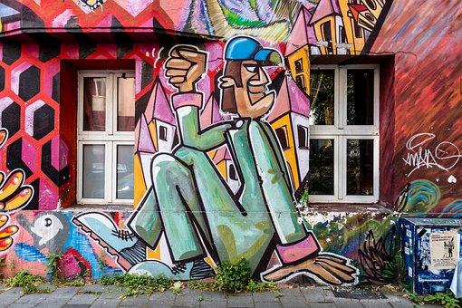 Grafitti, Düsseldorf, Pine Street, Flingern, Home