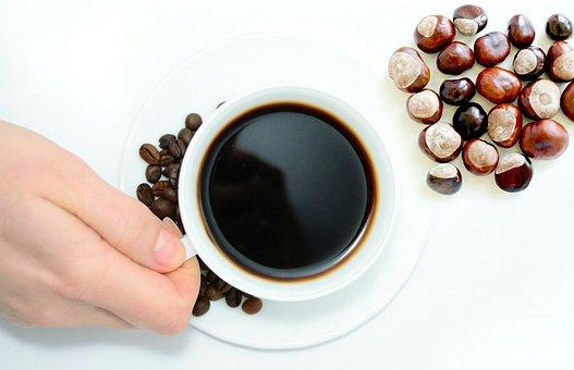 Chestnuts, Coffee, Beans, Caffeine, Espresso, Brown