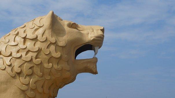 Lion, Sculpture, Figure, Statue, Monument, Stone