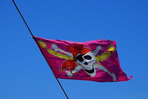 Flag, Pirate, The Mast, Death