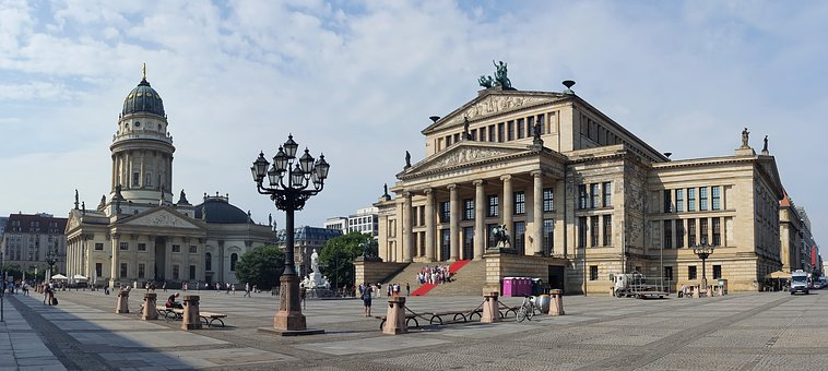 Panorama, Gendarmenmarkt, Berlin, Germany