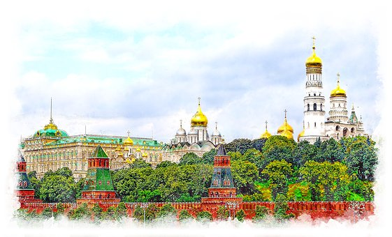Russia, Moscow, The Kremlin, Wall, Historically