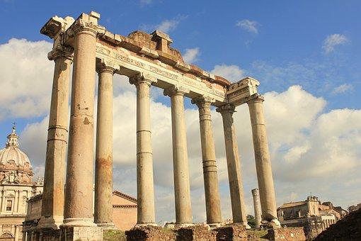 Roman, Ruins, Rome, Italy, Ancient, History, Landmark