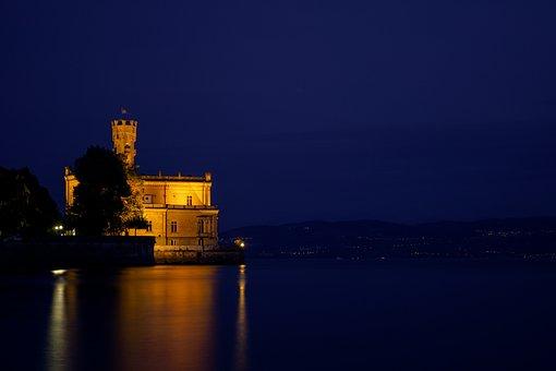 Lake Constance, Langenargen, Sunset, Landscape, Water