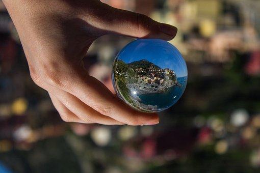 Cinque Terre, Lensball, Hand, Island, Life, Nature