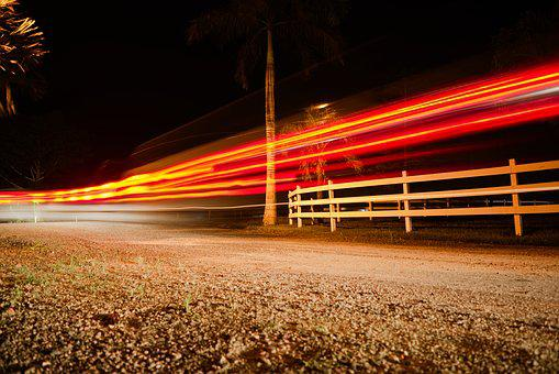 Long Exposure, Night Photo, Light Trails, Night, Light