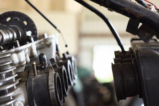 Engine, Motorcycle, Garage, Motor, Four, Yamaha, Sport