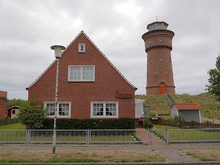 Borkum, Water Tower, North Sea, Museum, Monument