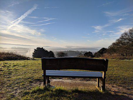 Bench, Countryside, Nature, Scenic, Landscape, Lonely