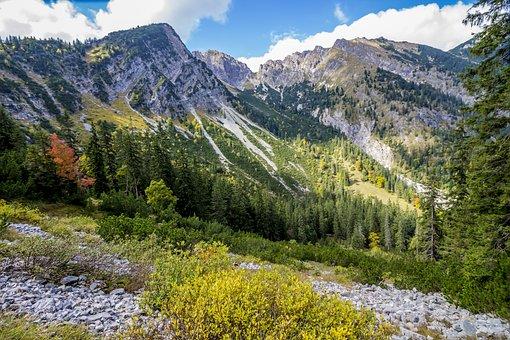 Mountains, Karwendel, Alpine, Landscape, Nature