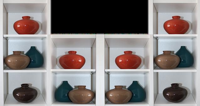 Display, Presentation, Vases, Shelves, Shelf, Header