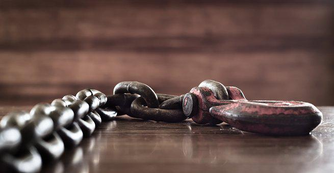 Hook, Chain, Strong, Metal, Iron, Rust, Rusted, Old