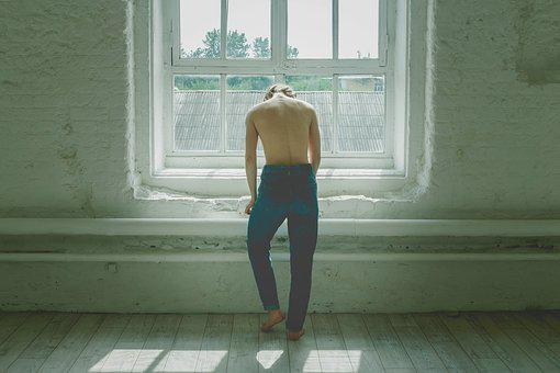 Girl, White, Young, Window, Studio, Morning, Spin