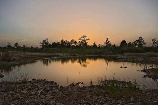 Landscape, Lake, Water, Nature, Sunset, Summer, Sky