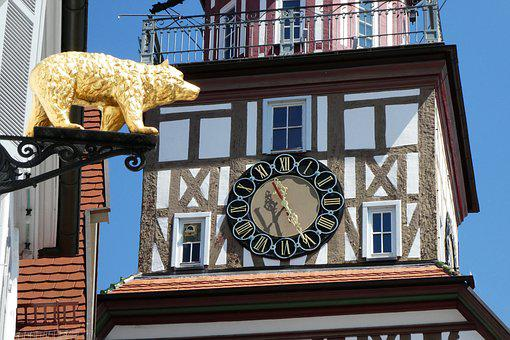Kirchheim, Teck, Clock, Clock Tower, Town Hall Clock