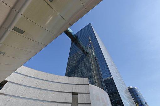 Belgium, Brussel, Office, Building, Walkway