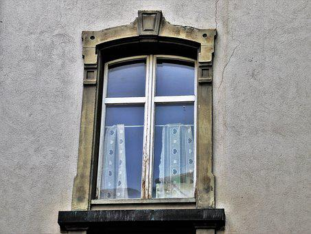 Old Windows, Window Sill, Wall, Figure, Building, Old