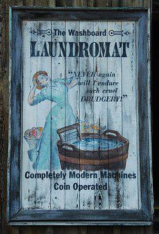 Wash, Laundry, Tub, Washboard, Advertising, Vintage