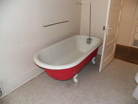 Bathroom, Bath, Claw, Antique, Claw Tub