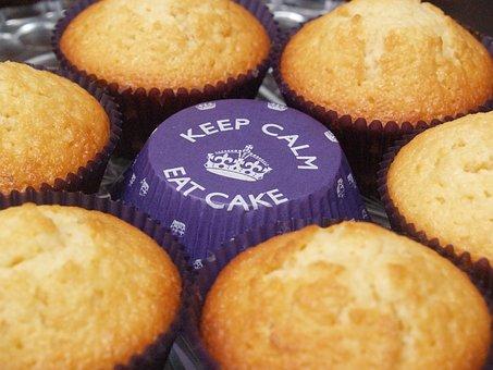 Keep Calm Eat Cake Muffin, Cupcake, Bake, Cake