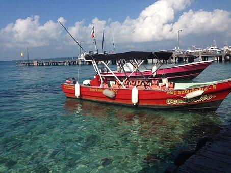 Isla Mujeres, Mexico, Riviera Maya, Boat, Fishing