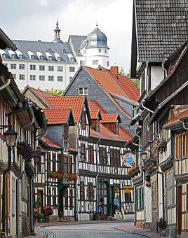 Truss, Castle, Historically, Stolberg In The Harz