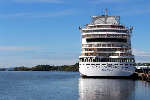 Oslo, Aida, Norway, Port, Oslofjord, City, Ship