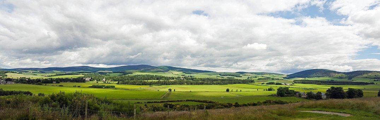 Scotland, Aberdeenshire, Dee-tal, View, Rural, Panorama