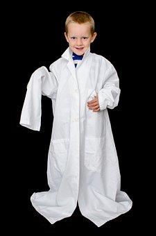 Child, Kid, Boy, Coat, White, Doctor, Laboratory