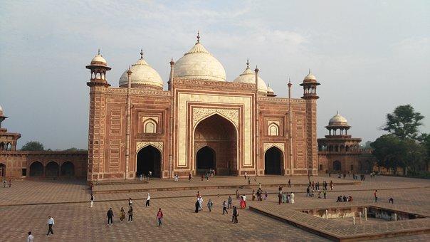 Taj Mahal, Mosque, Unesco, Agra, India, Duplicate