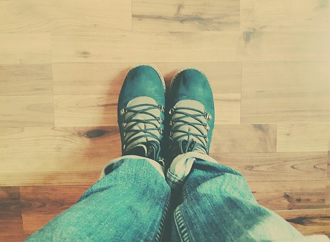 Shoes, Floor, Parquet, Wood, Legs, Feet, The Rate Of