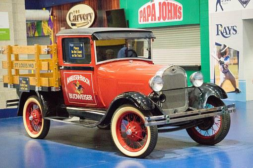 Antique, Vehicle, Rays Stadium, Tampa, Florida, Old