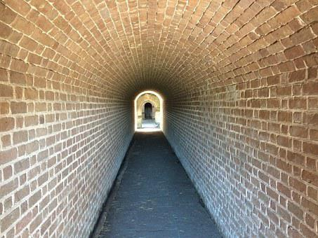 Ft, Clinch, Summer, Florida, Tunnel, Path