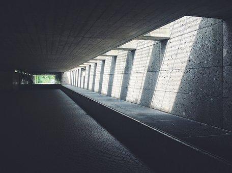 Tunnel, City, Escape, Building, Gang, Away, Facade