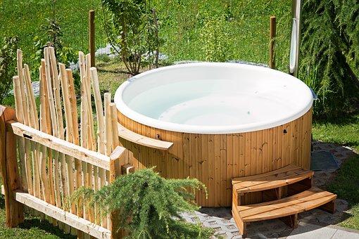 Whirlpool, Hot Tub, Garden, Summer, In The Garden