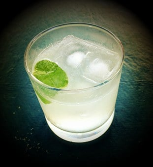 Gin And Tonic, Drink, Happy Hour, Grunge, Glass, Gin